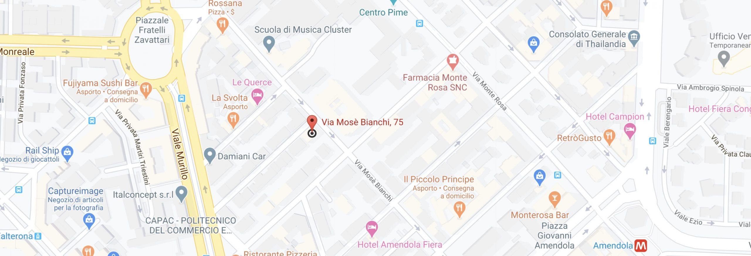 mappa residence portello